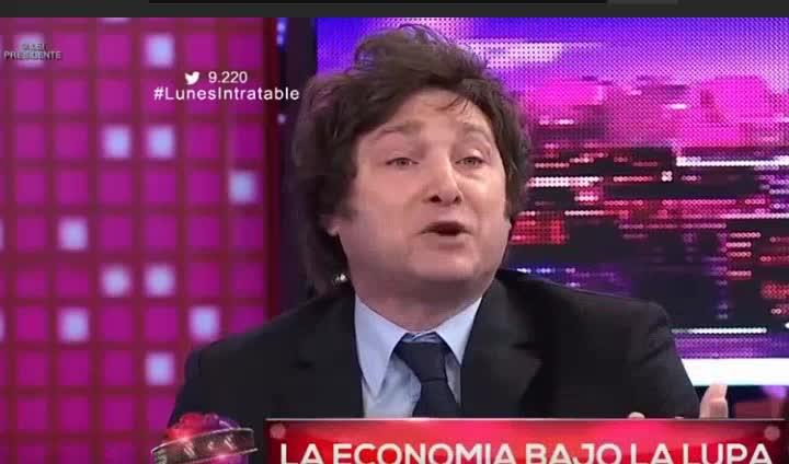 economista Jjavier Milei libertario